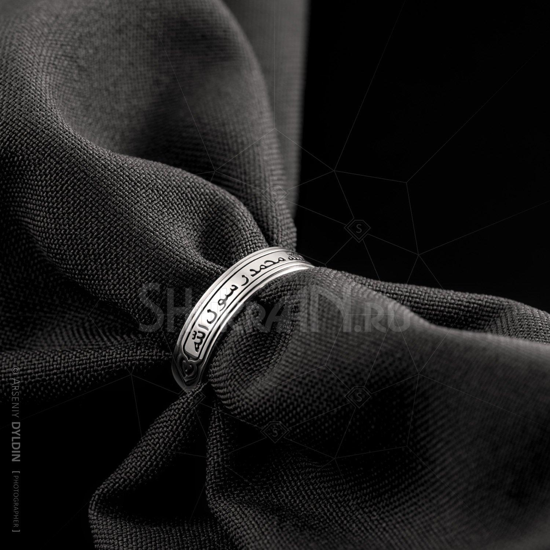 Исламское арабское кольцо для мужчин и женщин с гравировкой Шахада из серебра 925 пробы