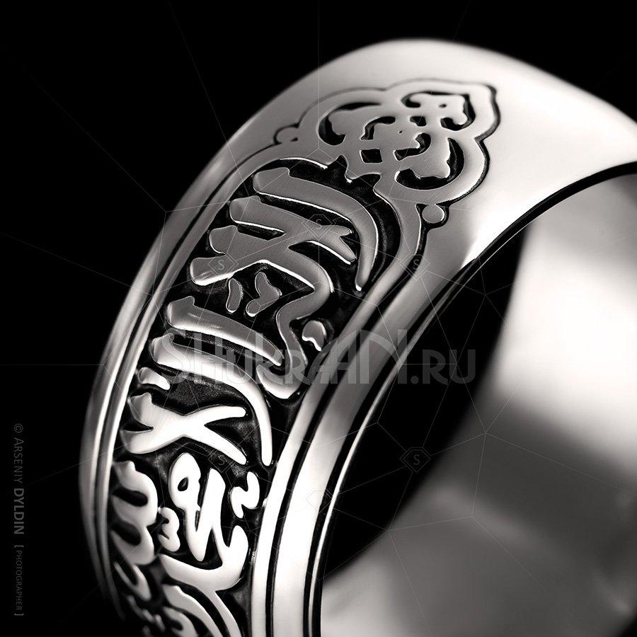 Исламское арабское кольцо для мужчин и женщин с гравировкой Шахада из серебра 925 пробы - надпись
